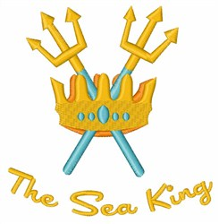 The Sea King embroidery design