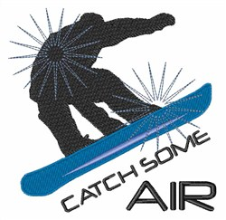 Catch Some Air embroidery design