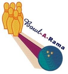 Bowl-A-Rama embroidery design