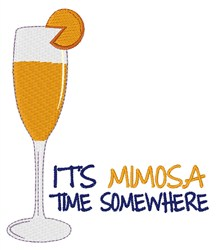 Mimosa Time embroidery design