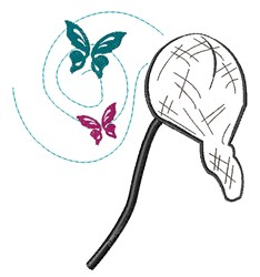 Butterfly Net embroidery design