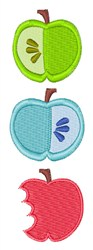 Apple Bites embroidery design