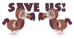 Save Us embroidery design