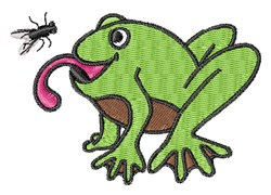 Hungry Froggie embroidery design