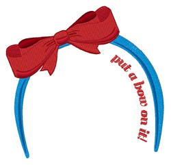 Put A Bow embroidery design