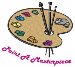 Paint A Masterpiece embroidery design