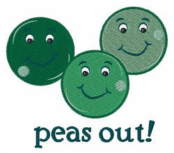 Peas Out embroidery design