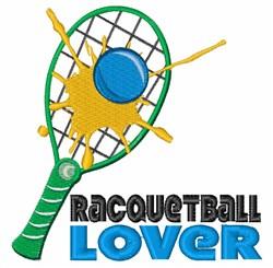 Racquetball Lover embroidery design