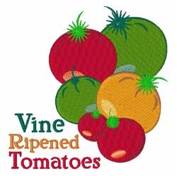 Vine Ripened Tomato embroidery design