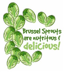 Brussel Sprouts Delicious embroidery design