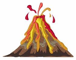 Volcano embroidery design