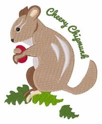Cheery Chipmunk embroidery design
