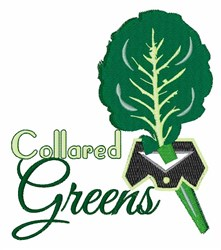 Collared Greens embroidery design