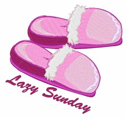 Lazy Sunday embroidery design