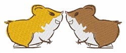 Hamster Kisses embroidery design
