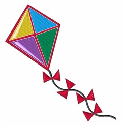 Colorful Kite embroidery design