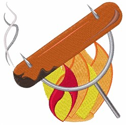 Campfire Dog embroidery design