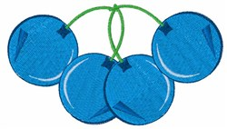 Blueberry Bunch embroidery design