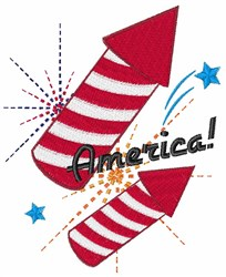 America Fireworks embroidery design