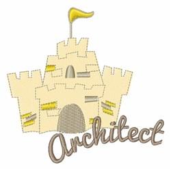 Architect Castle embroidery design