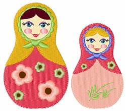 Nesting Dolls embroidery design