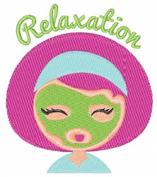 Relaxation embroidery design