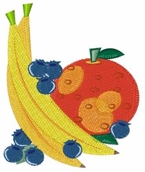 Colorful Fruit embroidery design