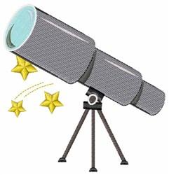 Telescope embroidery design
