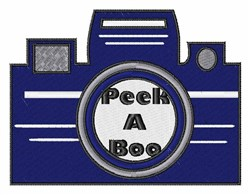Peek A Boo embroidery design