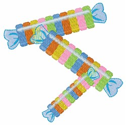 Candy Rolls embroidery design