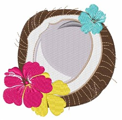 Tropical Coconut embroidery design