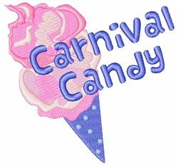 Carnival Candy embroidery design