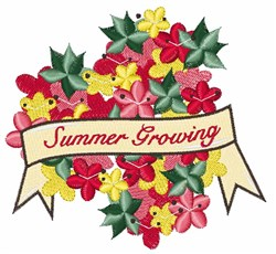 Summer Growing embroidery design