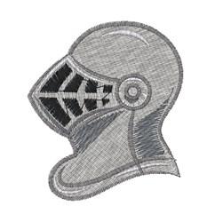 Knight Helmet embroidery design