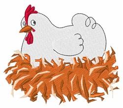 Hen On Nest embroidery design