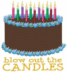 Blow Out Candles embroidery design