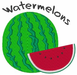 Watermelons embroidery design