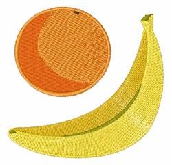 Banana & Orange embroidery design