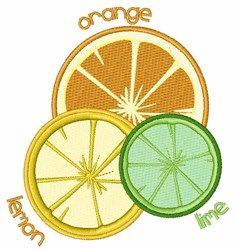 Orange Lemon Lime embroidery design