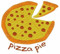 Pizza Pie embroidery design