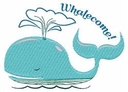 Whalecome! embroidery design