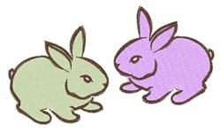 Two Bunnies embroidery design