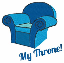 My Throne embroidery design