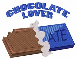 Chocolate Lover embroidery design