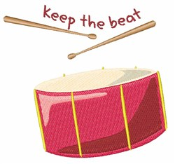 Keep The Beat embroidery design