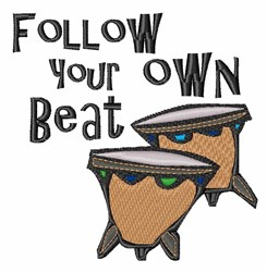 Your Own Beat embroidery design