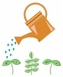 Watering Plants embroidery design
