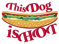 Dog Is Hot embroidery design