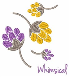 Whimsical Flowers embroidery design