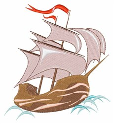 Ship embroidery design